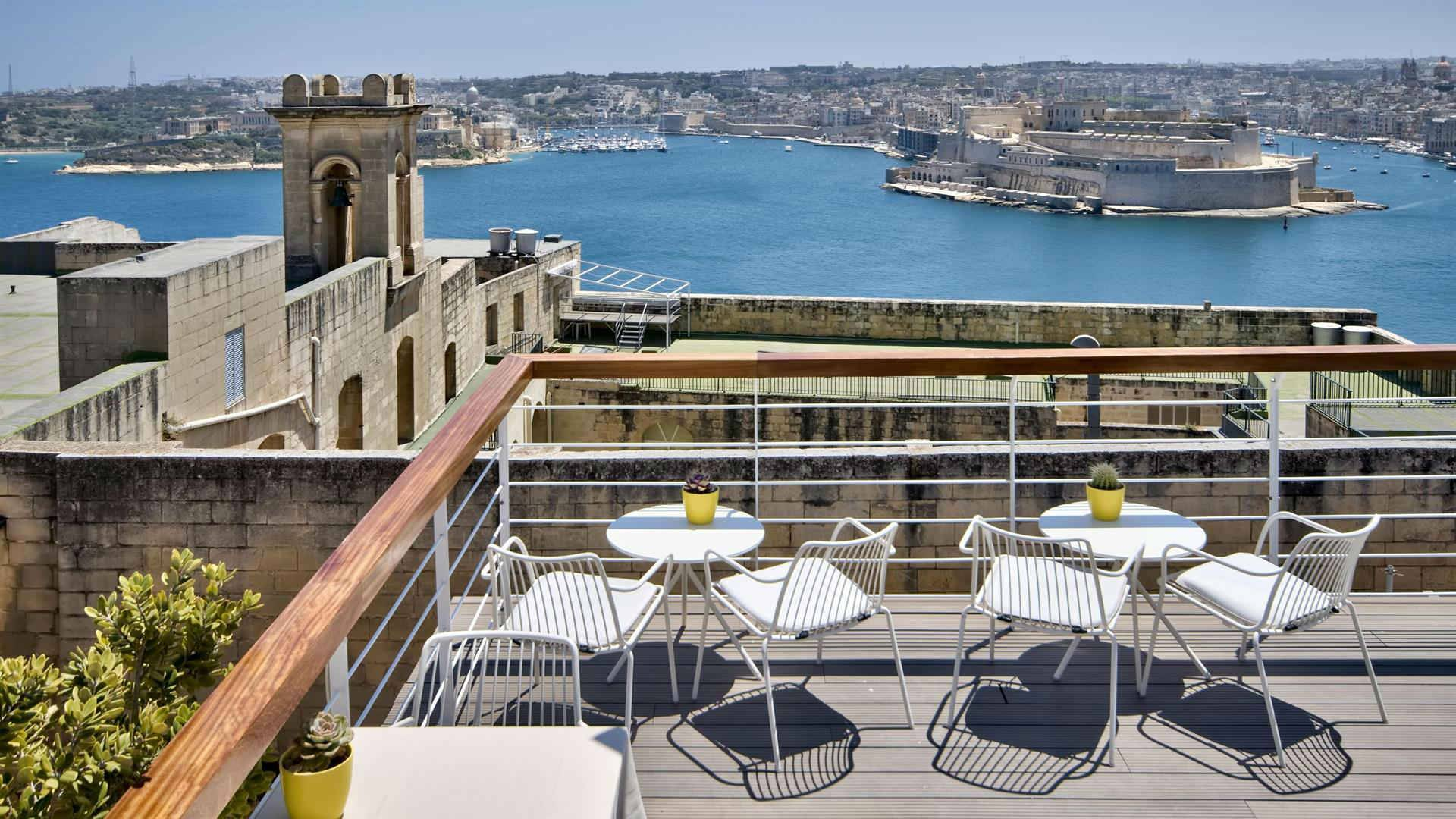 Ursulino Boutique Hotel Valletta stunning roof top harbour view