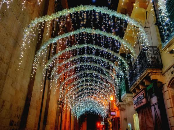 Christmas lights december ursulino valletta boutique hotel